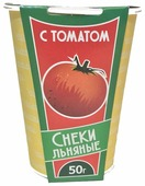 Снеки льняные VEGANIKA С томатом 50 г