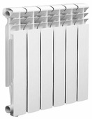 Радиатор секционный алюминий Lammin Eco AL-350-80