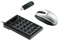 Клавиатура и мышь Genius NumPad C600 Silver-Black USB