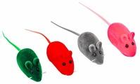 Мышь для кошек Киспис велюровая с пищалкой