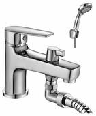 Смеситель для ванны с душем Rossinka Silvermix S35-38 однорычажный встраиваемый лейка в комплекте хром