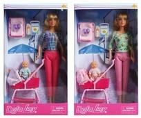 Кукла Defa Lucy Прогулка с коляской 28 см 8358