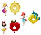Кукла Hasbro Disney Princess Маленькое королевство с кругом, 7.5 см, B8966