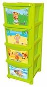 Бельевой комод Little Angel Для игрушек 4 секции 335