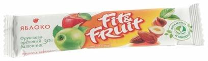 Фруктовый батончик Fit&Fruit в тонких вафельных пластинках Яблоко, 30 г
