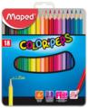 Maped Цветные карандаши Color Peps 18 цветов, металлическая коробка (832015)