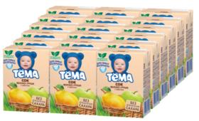 Сок с мякотью Тёма Яблоко-груша, c 5 месяцев (18 шт)