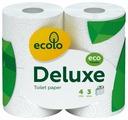 Туалетная бумага Ecolo Deluxe трёхслойная