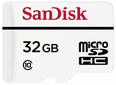Карта памяти SanDisk High Endurance microSDHC Class 10 + SD adapter
