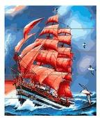 "Molly Картина по номерам ""Алые паруса"" 40х50 см (KD0051)"