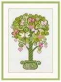 Риолис Набор для вышивания крестом Дерево счастья 21 x 30 (1295)
