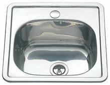Врезная кухонная мойка MELANA MLN-3838 38х38см нержавеющая сталь