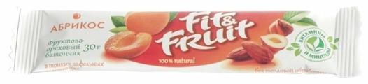 Фруктовый батончик Fit&Fruit в тонких вафельных пластинках Абрикос, 30 г