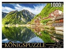 Пазл Рыжий кот Konigspuzzle Австрия Озеро Хальштаттерзее (ГИК1000-8241), 1000 дет.