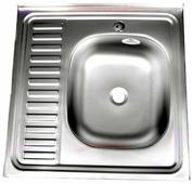 Накладная кухонная мойка Fabia 60x60 0.4/160 60х60см нержавеющая сталь