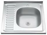 Накладная кухонная мойка MELANA MLN-6060 нержавеющая сталь