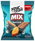 ХРУСteam сухарики ржано-пшеничные Mix Морской 3 в 1, 100 г