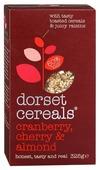 Мюсли dorset cereals клюква, вишня и миндаль, коробка