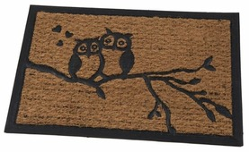 Придверный коврик RemiLing Совы на ветке