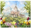 Фотообои флизелиновые детские Design Studio 3D Замок в сказочной долине 3х2.7м