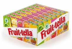 Fruittella Жевательные конфеты Fruit-tella Радуга с фруктовым соком 21 шт.