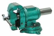 Тиски SKRAB поворотные с трубозажимом (25434) 100 мм