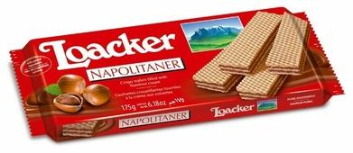 Вафли Loacker Наполитанер хрустящие с лесным орехом 175 г