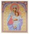 Канва для вышивания с рисунком NOVA SLOBODA Богородица БИС-9006 19 х 25 см