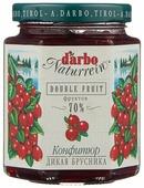 Конфитюр d'arbo Naturrein Double Fruit Дикая брусника, банка 200 г