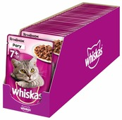Корм для пожилых кошек Whiskas с ягненком 85 г (кусочки в соусе)