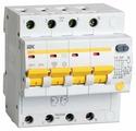 Дифференциальный автомат IEK АД-14 4P тип AC 4.5 кА 4П 100 мА C