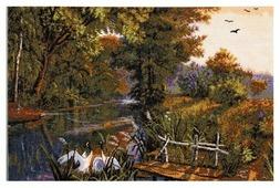 Hobby & Pro Набор для вышивания На реке 54 х 35 см (719)