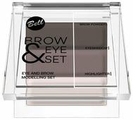 Bell Набор для моделирования бровей и глаз Brow and eye modelling set тон 03