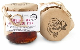 Варенье Таёжный Тайник из лепестков роз (эфиромасличная роза), банка 215 г