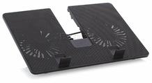 """Подставка для ноутбука Deepcool U PAL (U-PAL) 15.6\""""390x280x27.5мм 26.3дБ 1xUSB 2x 140ммFAN 765г пластик ABS черный"""