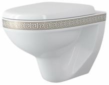 Чаша унитаза подвесная Della Glance SP (028) версаче золото с горизонтальным выпуском