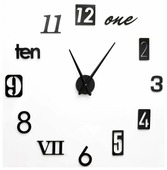 Часы настенные кварцевые 3D Decor Number 100 см
