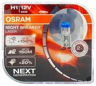 Лампа автомобильная галогенная Osram NIGHT BREAKER LASER H1 64150NL-HCB 12V 55W 2 шт.