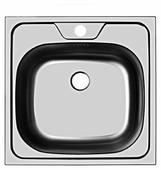 Врезная кухонная мойка UKINOX Classic CLM 480.480-4C 0C 48х48см нержавеющая сталь