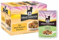 Корм для кошек Hill's Ideal Balance с индейкой 85 г