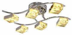 Люстра светодиодная Максисвет Геометрия 1-1663-6-CR Y LED, LED, 48 Вт