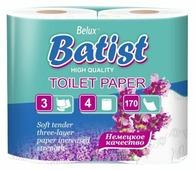 Туалетная бумага Belux Batist белая трехслойная