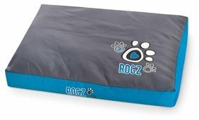 Лежак для собак, для кошек Rogz Flat Spice Pod Turquoise Paw FPXLCG 129х86х12 см