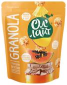 Гранола Ол' Лайт медовая с тропическими фруктами, дой-пак