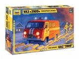 Сборная модель ZVEZDA УАЗ 3909 Пожарная служба (43001) 1:43