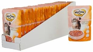 Корм для стерилизованных кошек Мнямс для профилактики МКБ, с лососем 100 г (кусочки в соусе)