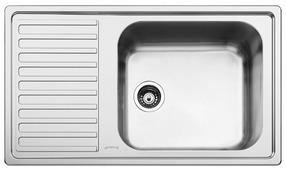Врезная кухонная мойка smeg LG861S-2