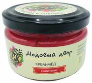 Крем-мед Медовый двор с клюквой