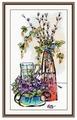 Овен Цветной Вышивка крестом Стеклянная фантазия-2 22 х 40 см (996)
