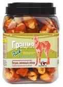 Лакомство для собак Green Qzin Грация, сушеное куриное мясо на яблоке